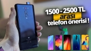 1500-2500 TL arasında alınabilecek en iyi telefonlar!