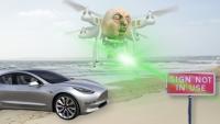Tesla otomatik pilot drone ile kandırıldı! Korkutucu!