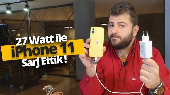 Spigen'in 27 Watt'lık adaptörüyle iPhone 11'i şarj ettik!