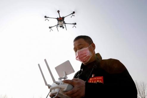 Çin Corona virüsü için Drone ile önlem alacak