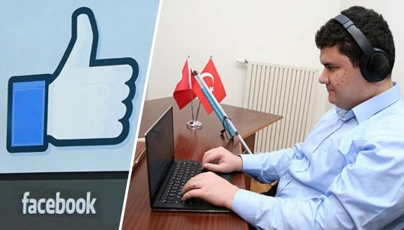Görme engelli Türk, Facebook'ta işe başladı