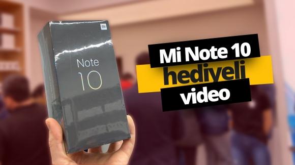 Xiaomi Mi Note 10 hediyeli video!