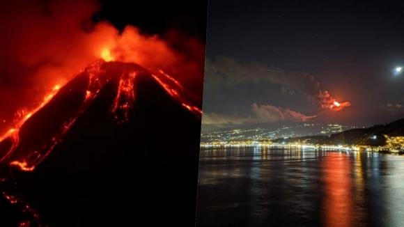 Etna patladı, görüntüler sosyal medyada gündem oldu
